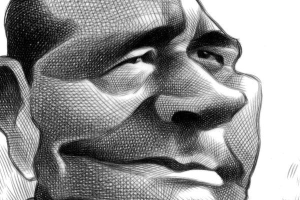 Jacques Chirac by Ron Coddington, KRT