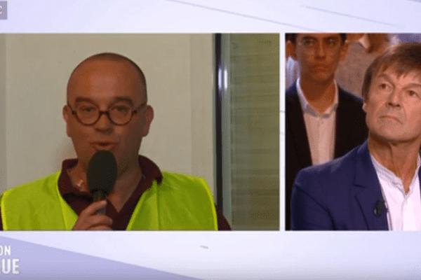 Benoit Julou et Nicolas Hulot sur France 2.