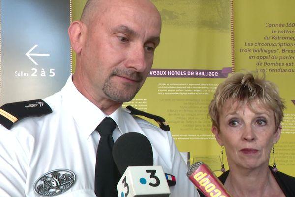 L'Adjudant Pascal Guldenfels et son épouse Corinne.