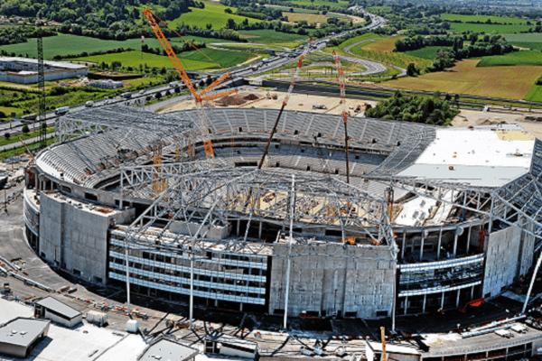 Le chantier du grand stade de Lyon - mai 2015