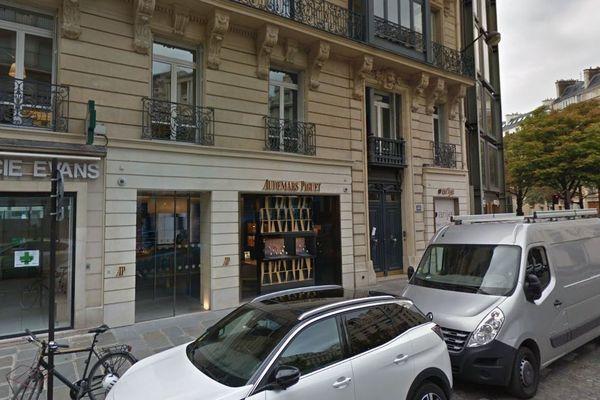 La boutique Audemars-Piguet, rue Pierre-Charron, dans le 8ème arrondissement de Paris (en septembre 2017).