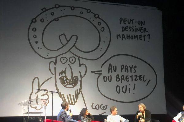 Un dessin de Coco qui fait un clin d'oeil à la gastronomie alsacienne...