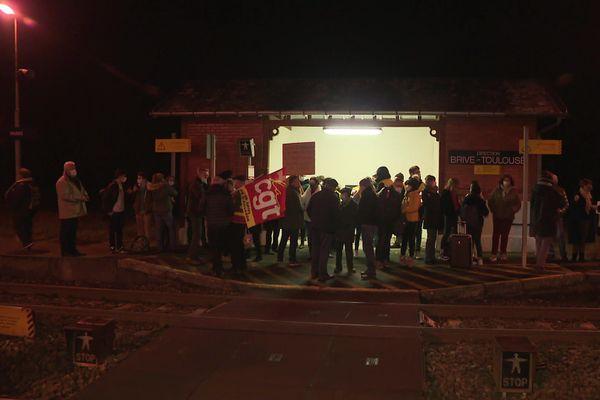 Manifestation ce lundi 14 décembre à la gare de Vigeois.