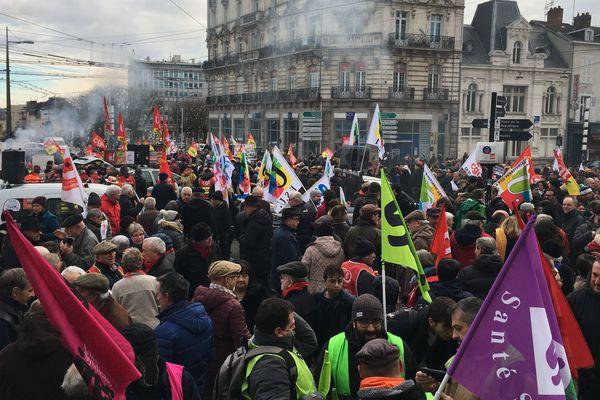 Faible mobilisation à Limoges le 6 février 2020 contre la réforme des retraites