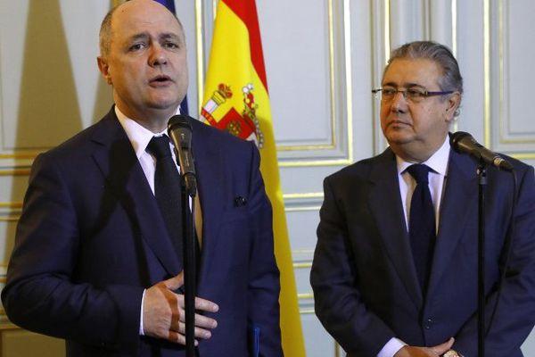 Bruno Leroux et Juan Ignacio Zoido les ministres de l'intérieur français et espagnol.