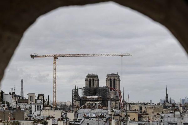 Le chantier de la cathédrale Notre-Dame à l'arrêt pour une durée indéterminée.