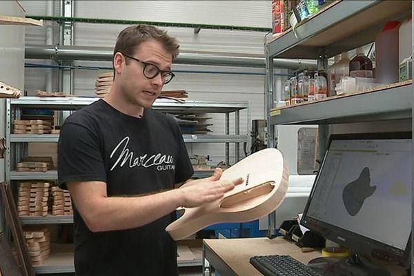 Le luthier Tom Marceau fait appel aux machines numériques qui s'accordent très bien à l'excellence exigée par ses clients