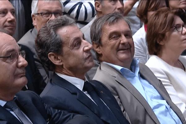 De gauche à droite : D. De Legge, N.Sarkozy, G.Lurton et A.Le Brun