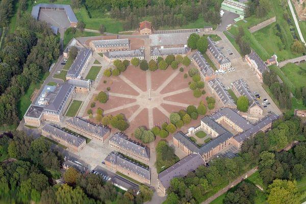 Vue aérienne du quartier militaire de la Citadelle de Lille