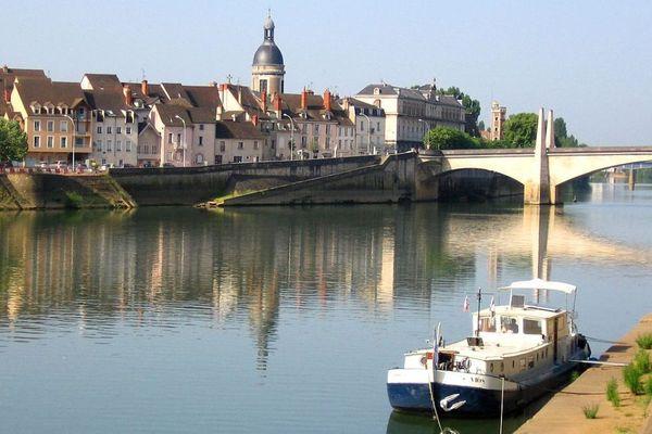 La ville de Chalon-sur-Saône, en Saône-et-Loire