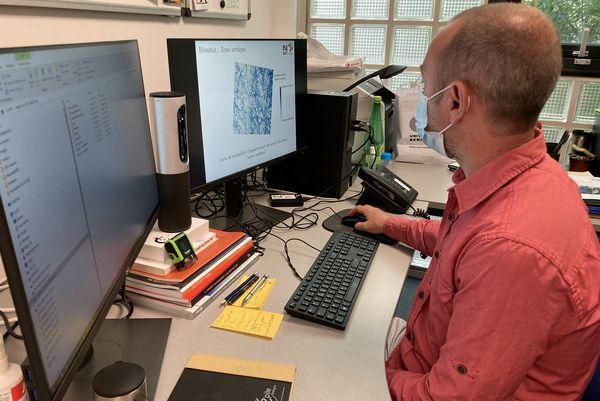 Le Laboratoire Littoral-Environnement-Télédétection-Géomatique de l'Université Rennes 2 accompagne Vincent Grison tout au long de son périple