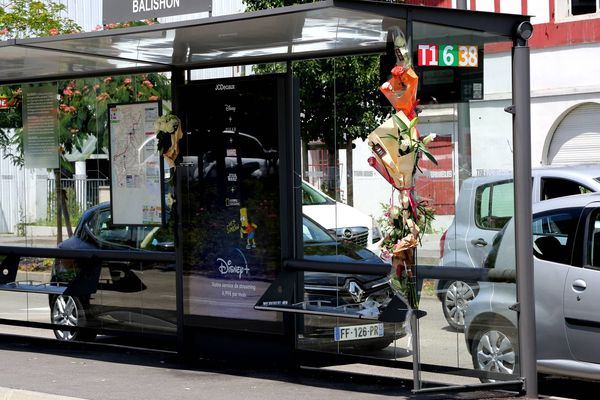 C'est à cet arrêt de bus à Bayonne que Philippe un conducteur a été victime d'une agression qui le laisse en état de mort cérébrale