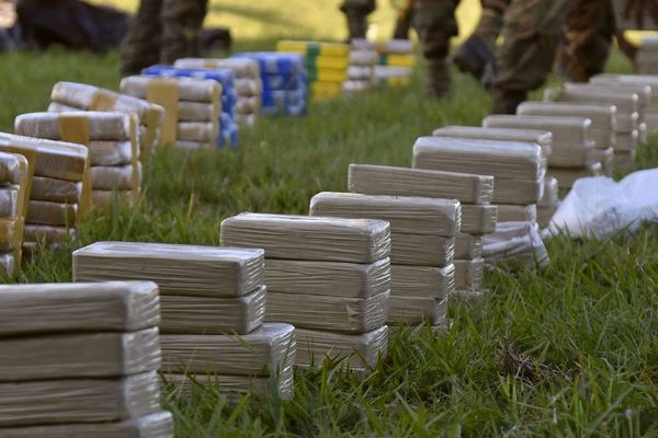 Cocaïne saisie en Bolivie lors d'une opération en juillet 2017.