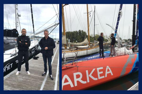 Emmanuel Faure à la rencontre des skippers Fabrice Amedeo et Sébastien Simon