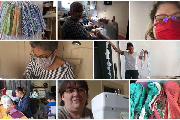 """Elles ont décidé d'unir leur force pour lutter à leur manière contre le coronavirus. """"Les Petites mains solidaires"""", ce sont 47 couturières et de nombreux bénévoles qui travaillent depuis plus d'un mois à la confection et livraison d'équipements pour les personnels soignants."""