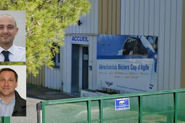 Liés à l'aéroclub de Béziers Cap-d'Agde, Valérie et Bertrand Chauvel (en bas) et Thomas Augugliaro (en haut), sont décédés dans le crash de leur avion à Wambrechies (Nord).