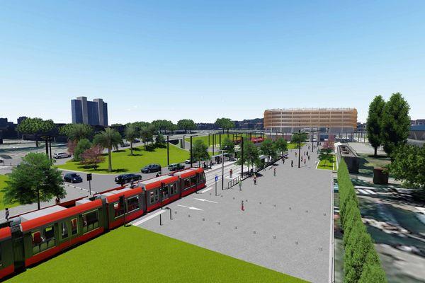 Voila à quoi devrait ressembler l'arrêt du CADAM selon ce visuel de la mairie de Nice.