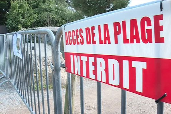 """Au bout de la presqu'île, la promenade en bord de bassin d'Arcachon située en face du restaurant """"Chez Hortense"""" est interdite."""