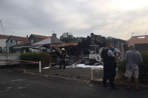 Le restaurant la Table basque de la Rochelle détruit par un incendie