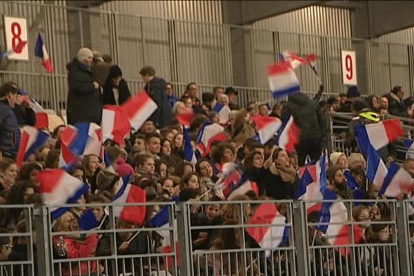 Le public vannetais a soutenu les Françaises jusqu'au bout