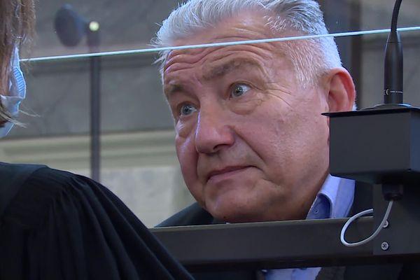 Frédéric de Chérancé lors de son procès devant les Assises des Pyrénées-Atlantiques. 09/03/21