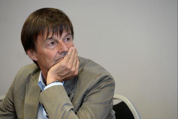 Nicolas Hulot à Angers venu soutenir la candidature REM  de Matthieu Orphelin