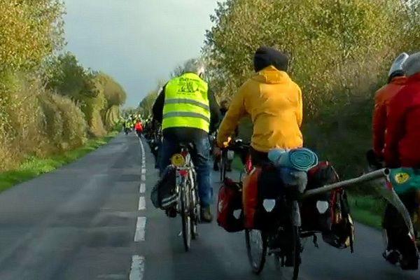 Le convoi tracto-vélo de NDDL