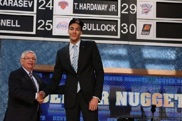 Rudy Gobert et David Stern, le patron de la NBA