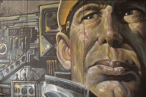 L'oeuvre du graffeur grec Scare One présentée à la Centrifugeuz à Caen