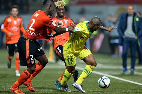 Football Championnat de France de ligue 1, Lorient contre Nantes (0-0) Audel contre Koné