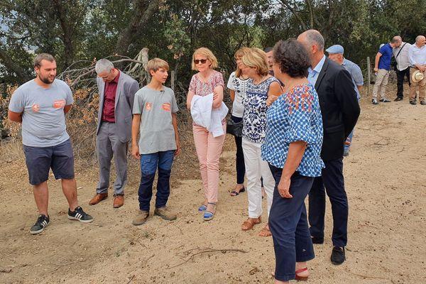 Josiane Chevalier, préfète de Corse, était présente lors de la rentrée du lycée agricole de Sartène.
