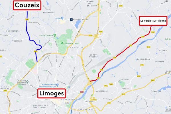 A terme, les voies vertes doivent permettre de relier Limoges à deux villes périphériques.