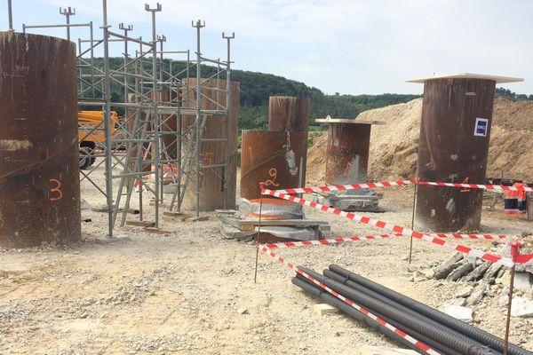 Des tests de forage sont réalisés sur terre mais le chantier du parc éolien sera bien en mer.