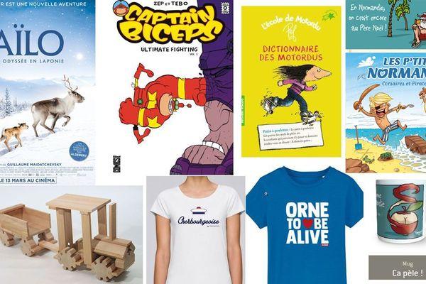 Un film, des livres, des t-shirts, des jouets, tous ces cadeaux ont été réalisés dans l'Orne, la Manche et le Calvados