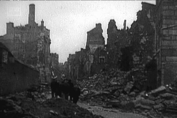 Brest bombardée