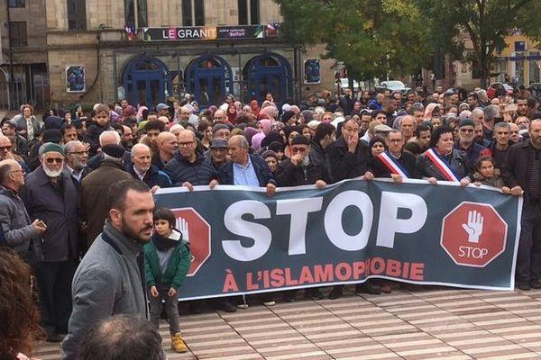 1.100 personne selon la police, 1.800 selon les organisateurs pour la manifestation contre l'islamophobie à Belfort.