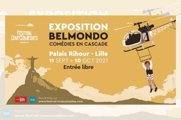 """L'acteur Jean-Paul Belmondo est célébré dans une exposition intitulée """"Comédies en cascade"""" au palais Rihour."""