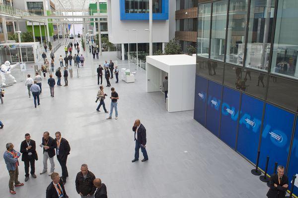 """Du 29 novembre au 1er décembre, les représentants de 40 villes du réseau international Michelin se réuniront autour du thème de la """"ville durable"""". L'occasion de promouvoir des infrastructures de Clermont-Ferrand, comme ici le campus de Recherche et Développement de Michelin."""
