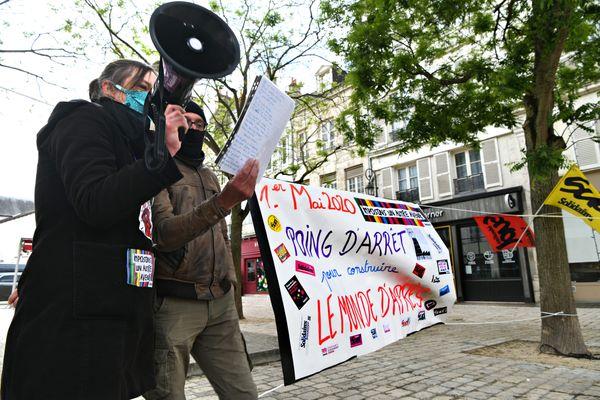 La manifestation du 1er mai 2020 à Orléans.