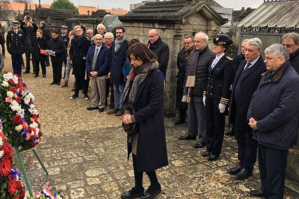 La cérémonie pour le 23ème anniversaire de la mort de François Mitterrand à Jarnac en Charente.