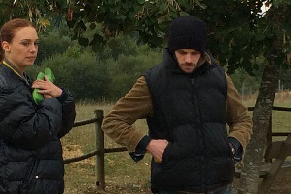 Les acteurs Félix Moati et Laetita Dosch au parc du Reynou