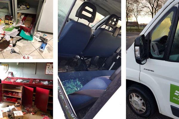 Suite à plusieurs actes de vandalisme, les dégâts constatés dans les clubs de rugby et de volley de Laon le 11 février 2019