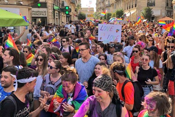 Montpellier - la 25e marche des fiertés - 21 juillet 2018.