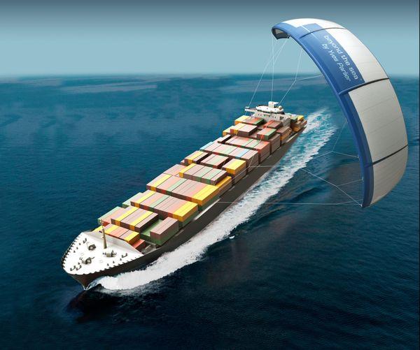 Beyond the sea : un projet qui mise sur la traction par kite, issue tout droit de la technologie du Kitesurf