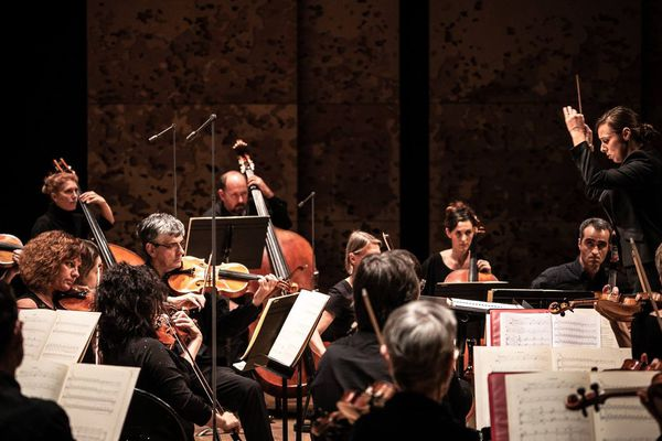 L'Orchestre de Picardie, ici dirigé par la Lilloise Lucie Leguay.