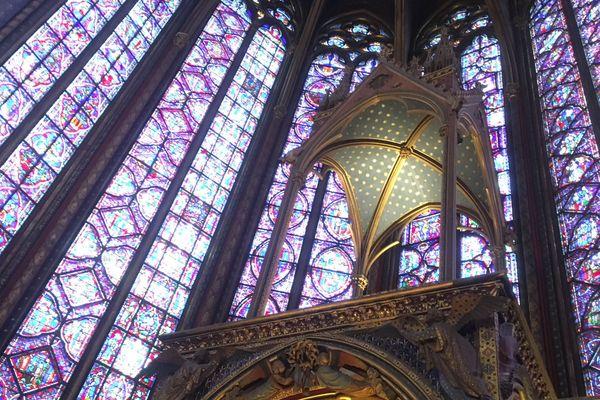 La Sainte-Chapelle, à Paris.