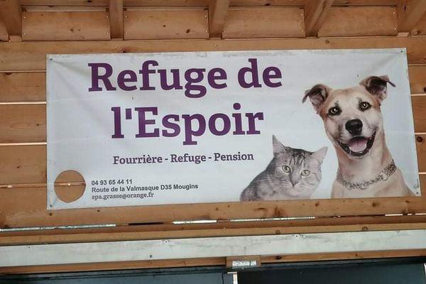 Le refuge de l'Espoir est situé sur la commune de Mougins, et il est géré par la SPA de Grasse.