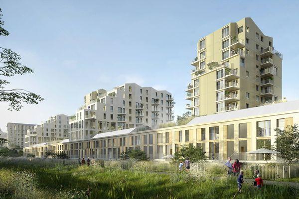 A Clermont-Ferrand, L'îlot23, dessiné par l'agence ANMA, abritera plus de 200 logements, des commerces, des bureaux et des espaces de vie commune