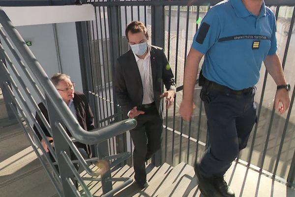 Le député du Nord, Ugo Bernalicis (LFI), visite la maison d'arrêt de Sequedin (59)