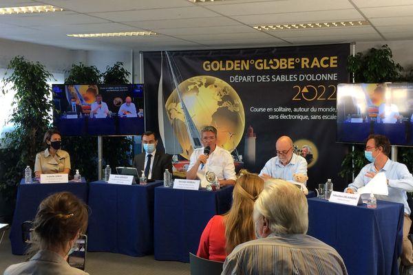 Conférence de presse de présentation de la Golden Globe Race 2022, le 2 septembre 2021